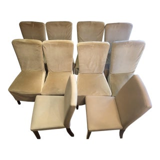 Pottery Barn Napa Side Chairs - Set of 10 For Sale