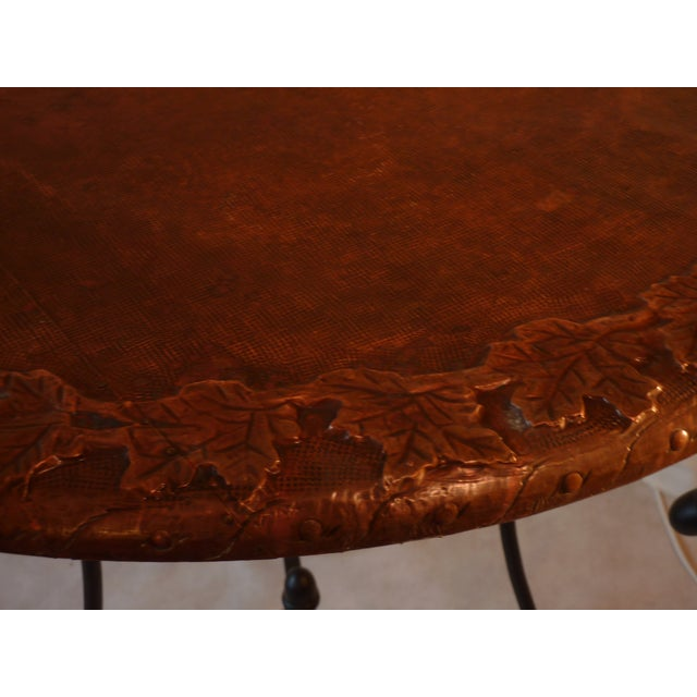 Copper Top Table For Sale - Image 5 of 5