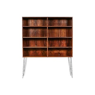 Danish Rosewood Bookcase w/ Iron Legs