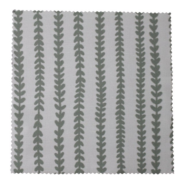 Hajarie Tiny Vines Fabric, 1 Yard, Sage in Linen & Cotton For Sale