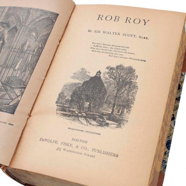 Leather English Leather Bound Books, Scott Waverly Novels Circa 1880s, Set of 10 For Sale - Image 7 of 9