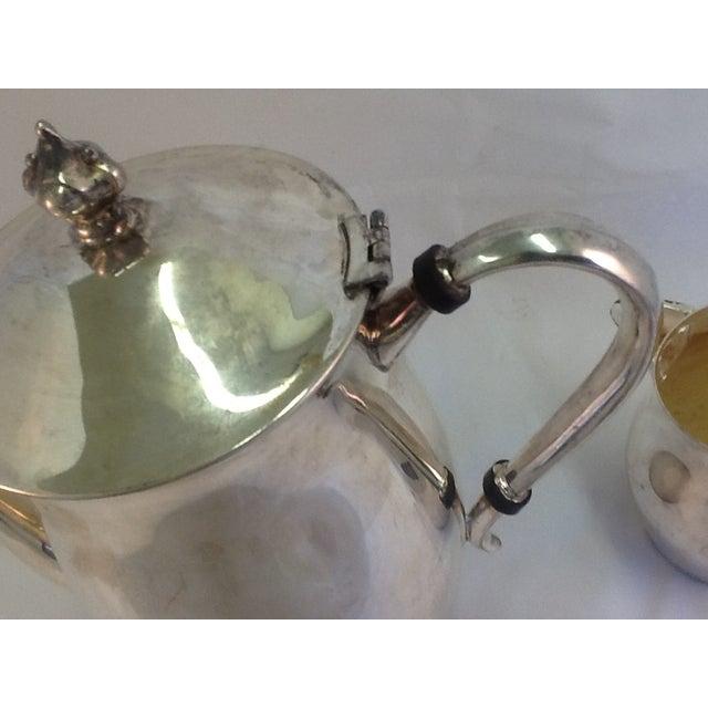Vintage Coffee Pitcher. Vintage Creamer. Silverplate Oneida Coffee Pitcher & Creamer - Image 4 of 7