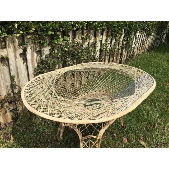 Perfect condition rare color spun fiberglass table