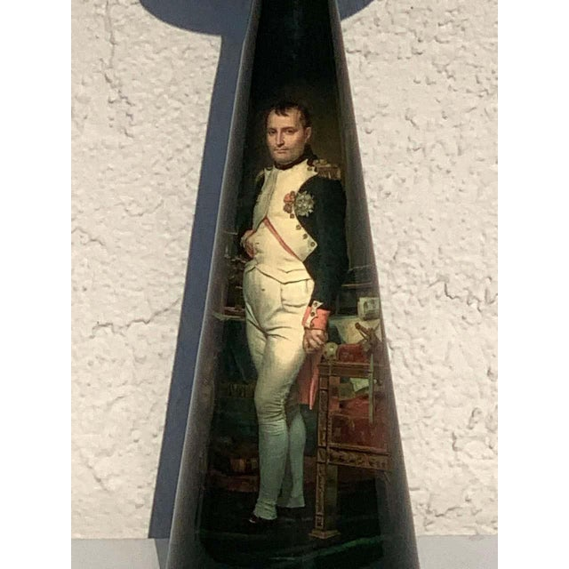French Bronze Lamp, Enameled With Emperor Napoleon in His Study at the Tuileries For Sale - Image 4 of 12