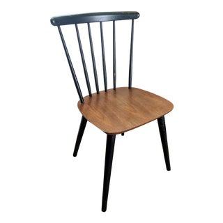 Vintage Danish Mid Century Farstrup Teak & Black Lacquer Chair For Sale