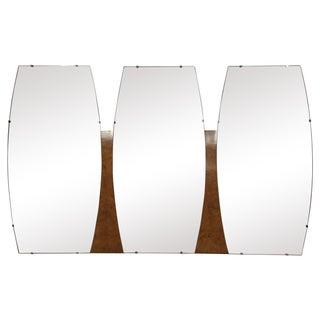 Mid-Century Triple Mirror