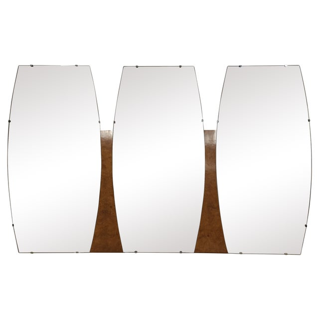 Mid-Century Triple Mirror For Sale