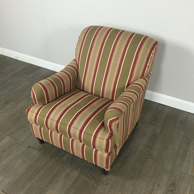 Pottery Barn Striped Armchair - Image 4 of 11