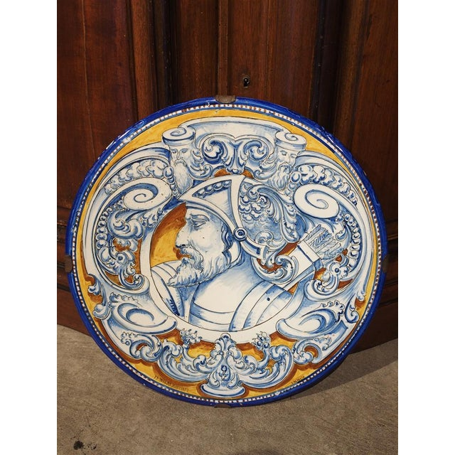 Antique Renaissance Style Platter from Spain For Sale In Dallas - Image 6 of 10