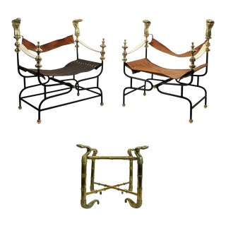 Cobra Set 'Armchairs and Side Table' by Arturo Pani - 3 Pieces For Sale