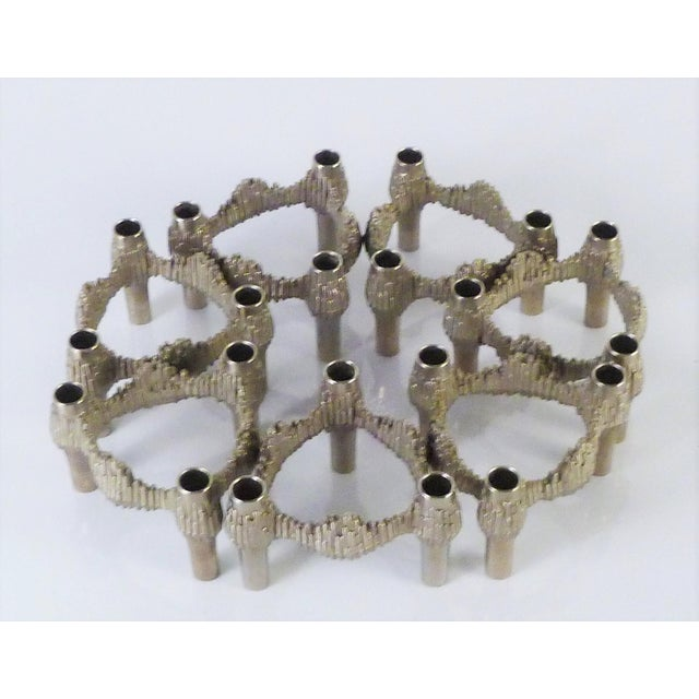 Brutalist Germany 1970s Nagel Brutalist Stacking Quist Variomaster Candleholders - 7 Pc. Set For Sale - Image 3 of 11