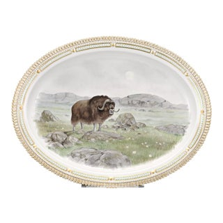 Flora Danica Musk Ox Serving Platter For Sale