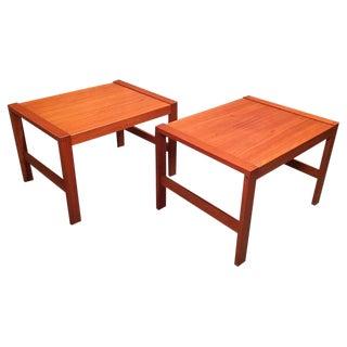 Vintage Mid Century Danish Modern Teak End Tables - a Pair For Sale