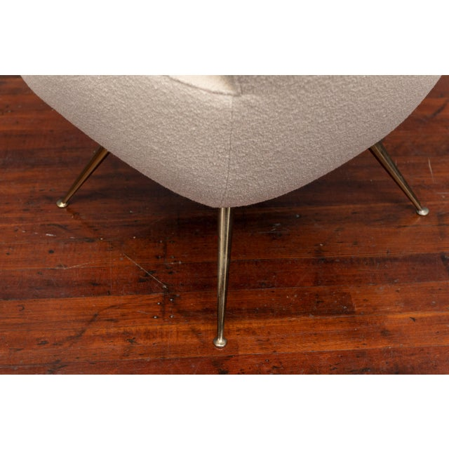 Textile Mid-Century Modern Lounge Chair by Henry Glass For Sale - Image 7 of 9