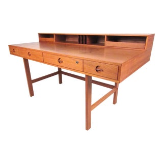Danish Vintage Modern Flip-Top Desk by Jens Quistgaard For Sale