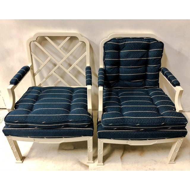 Pair of Erwin Lambeth Chinese Chippendale Chairs For Sale - Image 10 of 10