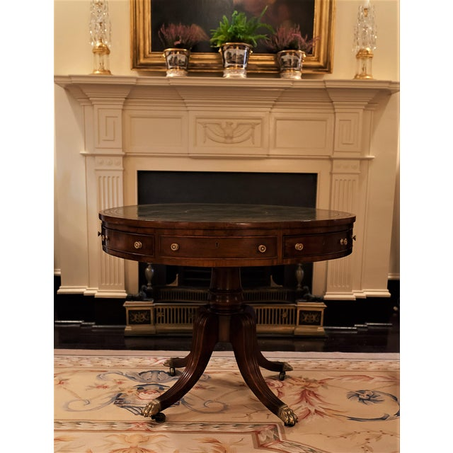 #9697FP. This William IV rent table is handmade of mahogany and mahogany veneer, with English oak secondary wood. The...