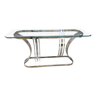 Mid Century Chrome Console Table For Sale