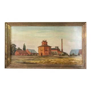 1920's Kurt Haase-Jastrow Original Framed Painting For Sale