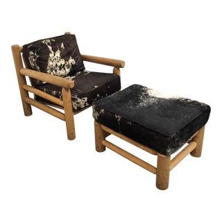 Custom Cowhide Chair & Ottoman