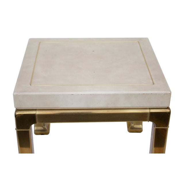 Ming Style Brass and Ivory End Table by Mastercraft For Sale - Image 11 of 11