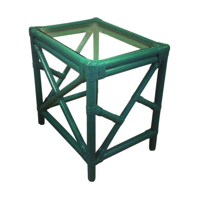 Bamboo Cocktail Table With Chippendale Lattice - Image 1 of 5