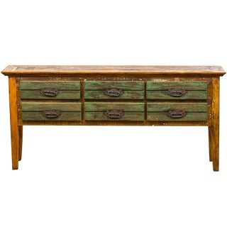 "Reclaimed Peroba Wood ""Boho Chic"" Console Table"