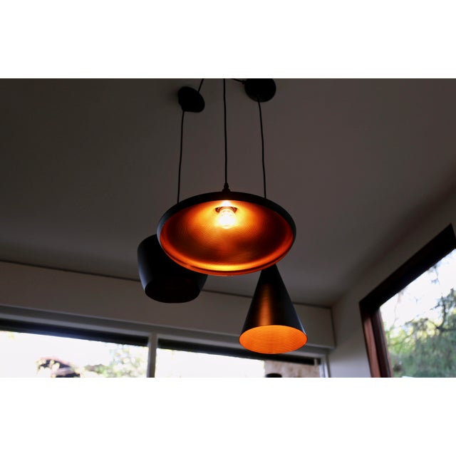 Danish Modern Tom Dixon Beat Pendant Lamps - Set of 3 For Sale - Image 3 of 5