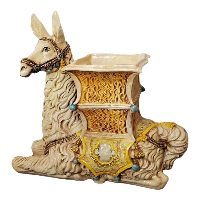 Vintage Indoor Llama Figural Planter For Sale