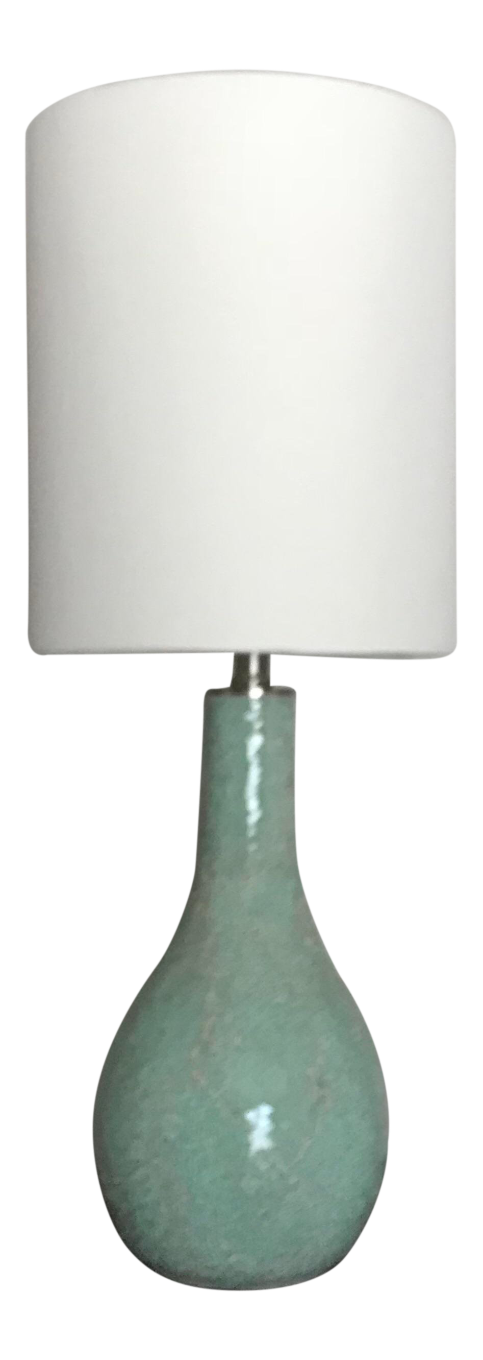 Modern Sea Foam Green Crackled Glass Table Lamp For Sale