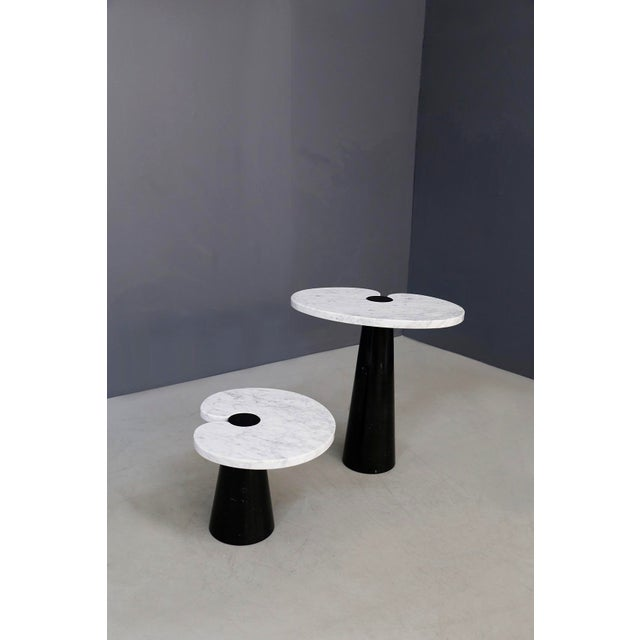 Pair of tables designed by Angelo Mangiarotti for the 1970 Skipper series. The two tables are made of double-colored...