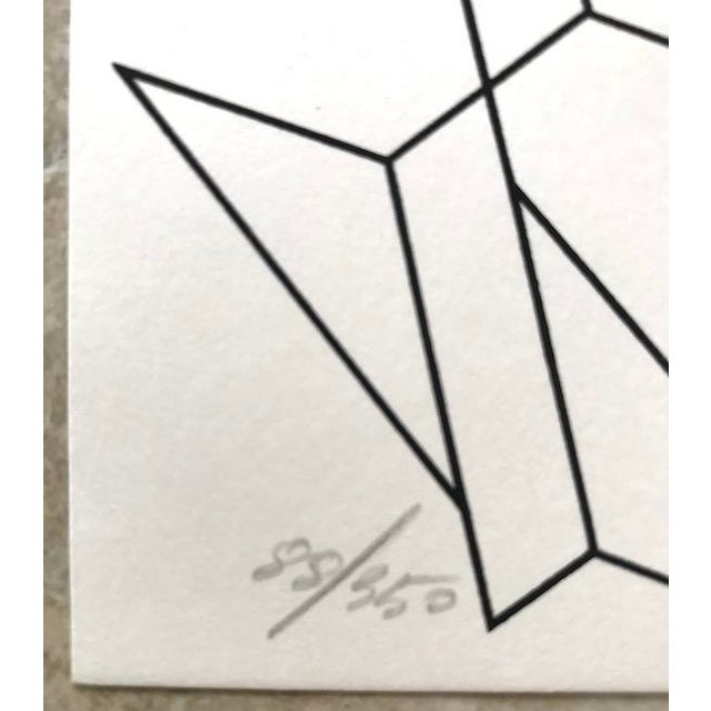 1975 Abstract Composition Lithograph by Giorgio Pagliari For Sale - Image 4 of 6