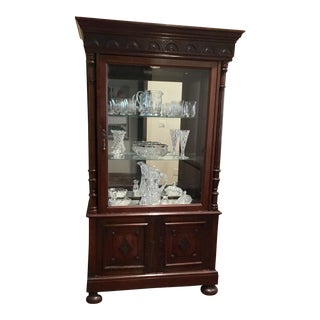 1940s Mirrored China Cabinet For Sale