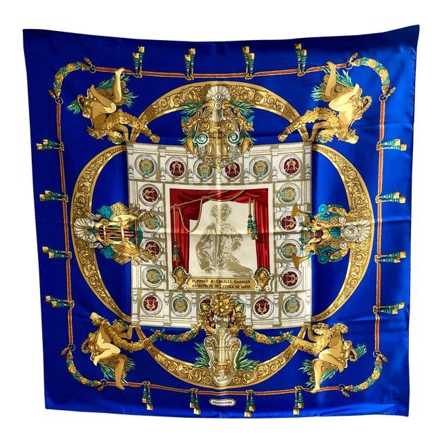 Hermès Homage a Charles Garnier Silk Scarf For Sale