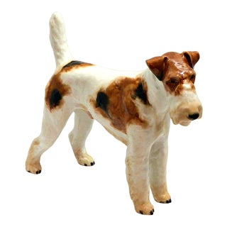 C.1935 Rosenthal Wire-Haired Fox Terrier Figurine For Sale