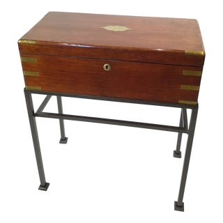19th Century English Writing Slope on a Stand For Sale