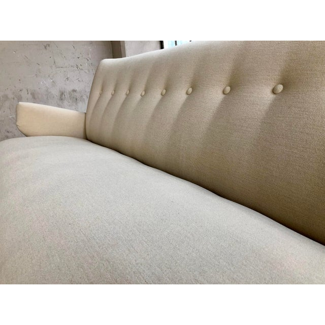 Jens Risom for Knoll Sofa - Mid Century Modern Danish Design Button Tufted Couch For Sale In Milwaukee - Image 6 of 10