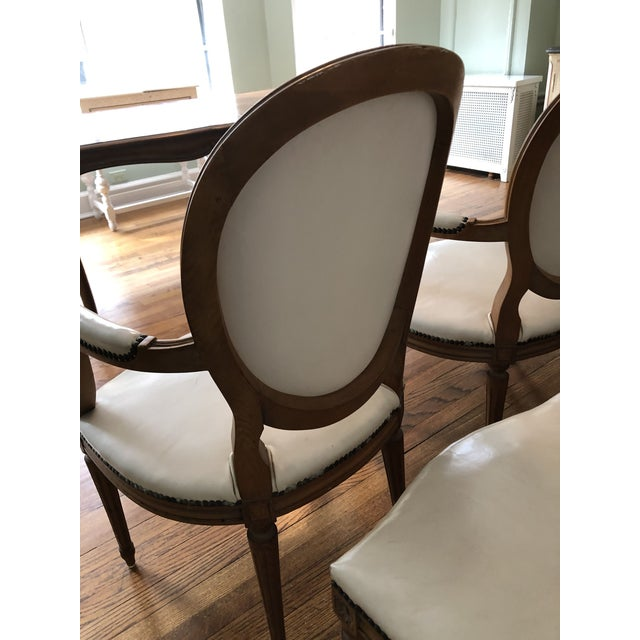 Animal Skin 1960s Vintage Baker Furniture Leather Dining Chairs-Set of 8 For Sale - Image 7 of 12