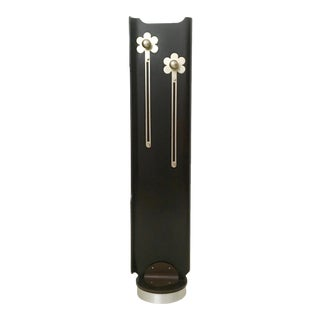 Wooden Revolving Coat Rack With Floral Motifs, Italy, 1970s For Sale