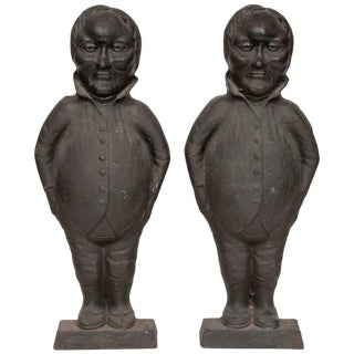 Tweedledum and Tweedledee Form Andirons-a Pair For Sale