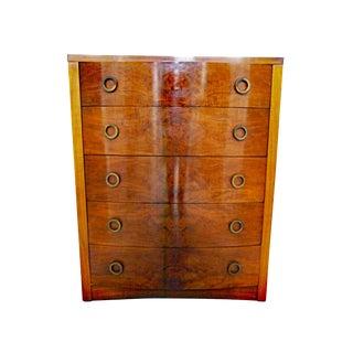 Art Deco Mid-Century Modern Tall Dresser For Sale