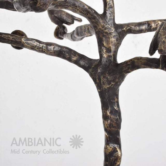 Bronze Mid-Century Modern Bronze Coat Rack After Giamcometti For Sale - Image 7 of 11