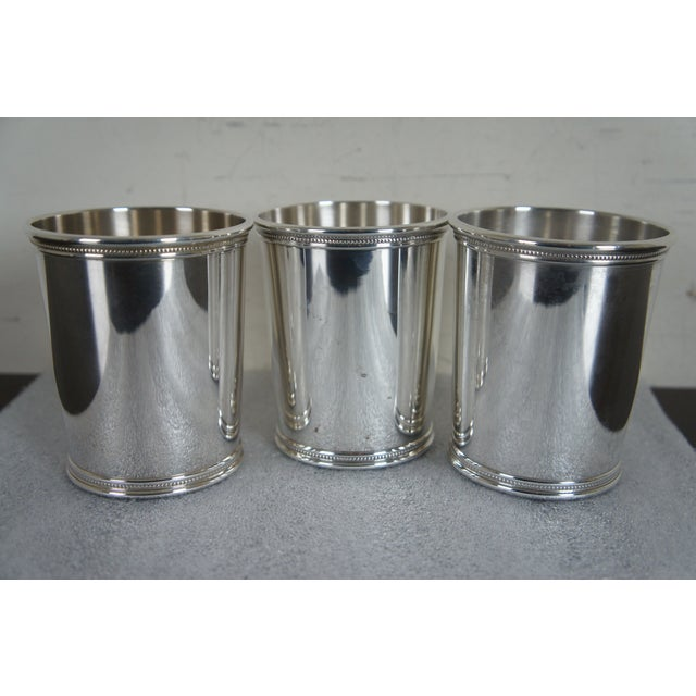 Sterling Silver Mark J Scearce Presidential Mint Julep Cups Richard Nixon Rmn - Set of 3 For Sale - Image 11 of 13