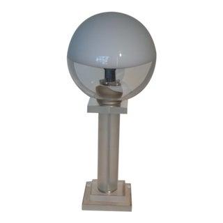 Hand Blown Murano & Lucite Table Lamp