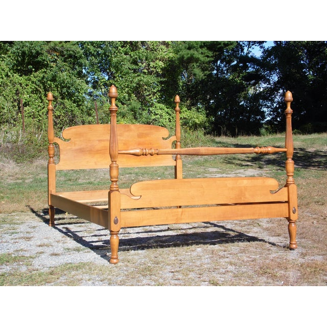 Vintage Ethan Allen Baumritter Early American Maple Full Double Poster Bed For Sale - Image 9 of 12