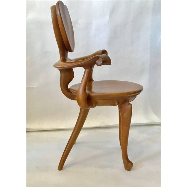 Mid-Century Modern Calvet Armchair by Antoni Gaudi For Sale - Image 3 of 8