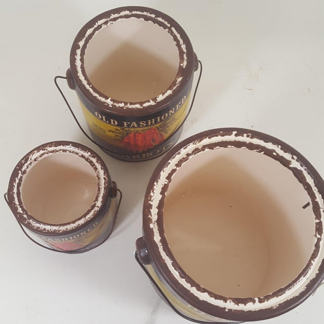 Carrot Canister Containers - Set of 3 For Sale In Dallas - Image 6 of 8