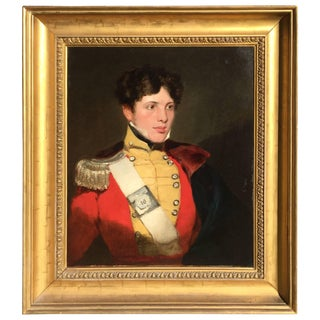 Portrait of Gentleman in Military Costume, After Sir Thomas Lawrence, 1820 For Sale