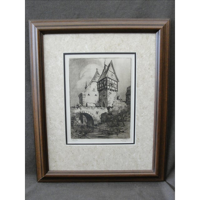 German Engraving of Rothenburg Ob Der Tauber - Image 2 of 8