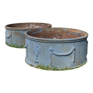 Pair of Iron Jardinieres, Europe, Circa 1900 For Sale